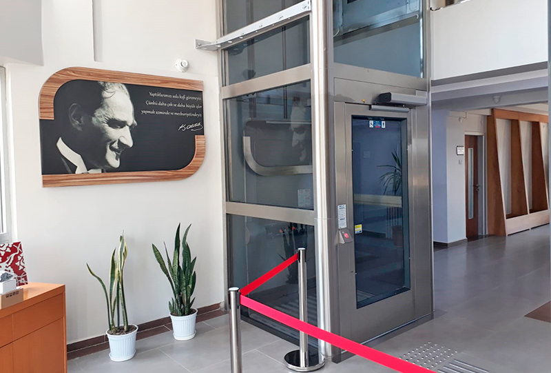 sonsuz vidalı milli asansör